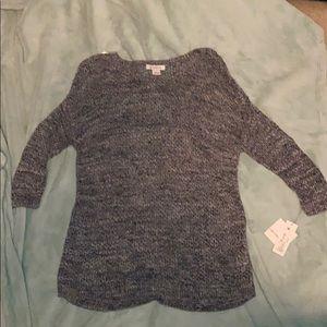 NWT Liz Claiborne tunic sweater size S